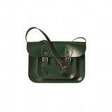 Forest Green Leather Satchel