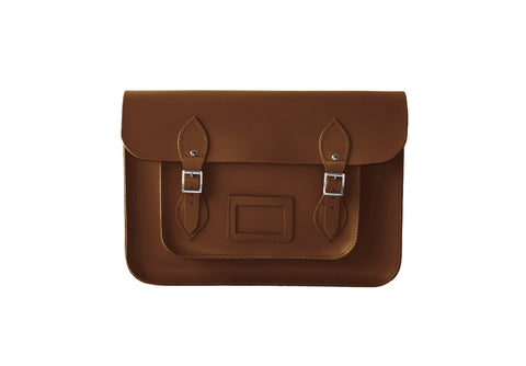 Chestnut Brown Leather Satchel