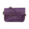 Purple Rain Leather Satchel