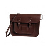Mocha Brown Leather Satchel