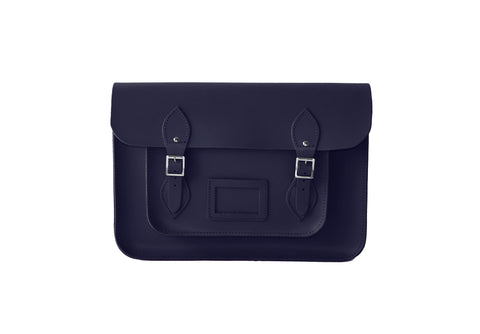 Horizon Blue Leather Satchel