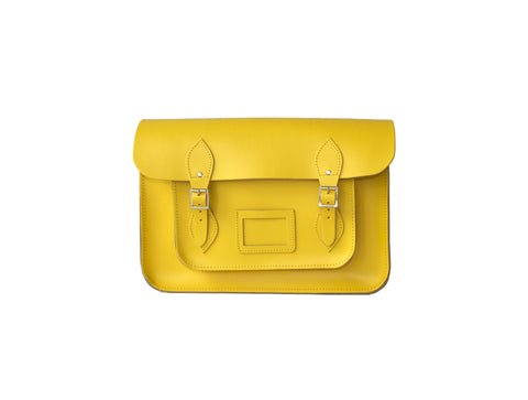 Citrus Yellow Leather Satchel