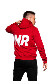 NR PATCHED LOGO HOOD RED