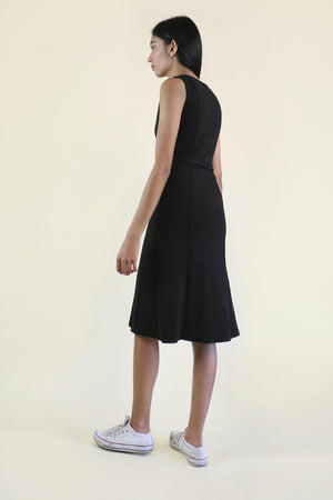 Black Princess Seam Dress