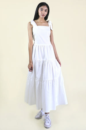 White Tier Maxi Dress