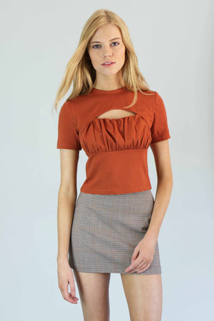 Rust Cutout Top