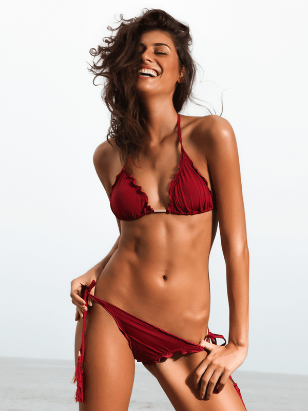 Red Brazilian Bikini Top