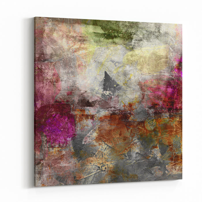 Abstract Painting  Mixed Media Grunge Canvas Wall Art Print