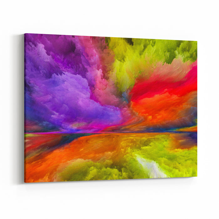 Inner World Series Design Composed Of Digital Colors As A Metaphor On The Subject Of Universe, Nature, Creativity And Imagination Canvas Wall Art Print