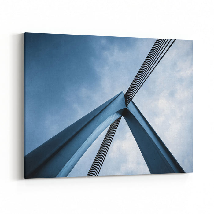 Abstract Architectural Features, Bridge Closeup Canvas Wall Art Print