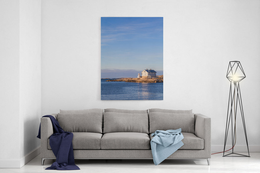 A Lighthouse And A Summer House, Marstrand, Bohusln, Sweden Canvas Wall Art Print