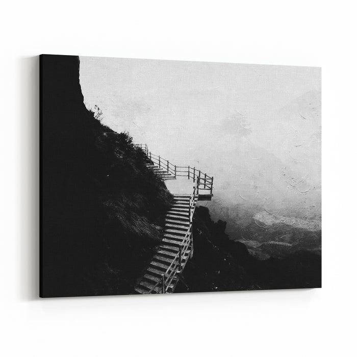 Painting Style Of Chinese Landscape Canvas Wall Art Print