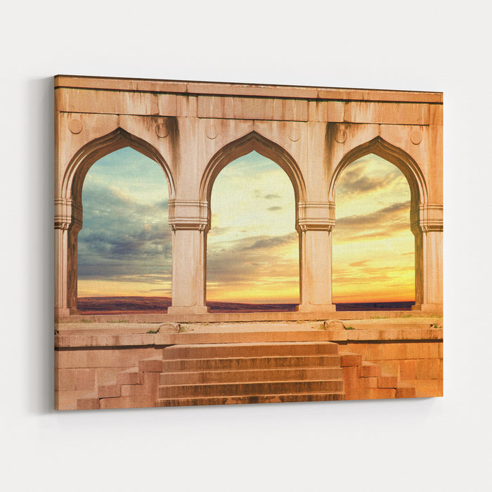 ARCH ANCIENT INDIAN ARCHITECTURE Canvas Wall Art Print