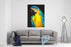 Original Pastel Painting Of A Parrot Modern Art Canvas Wall Art Print