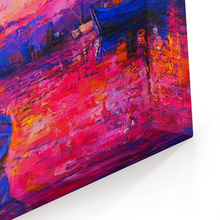 Original Oil Painting Of A Beautiful Sunset Modern Art Canvas Wall Art Print