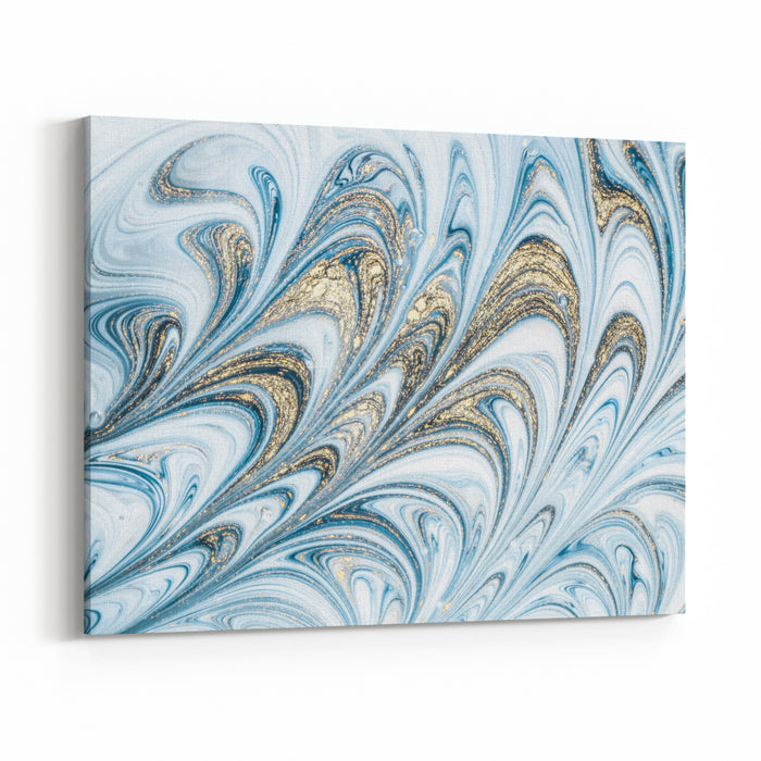 EBRU Ancient Oriental Drawing Technique Natural Luxury Style Incorporates The Swirls Of Marble Or The Ripples Of Agate For A Luxe Effect Traditional Ottoman Turkish Marbling Art Canvas Wall Art Print