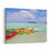 Landscape View Of Colourful Kayaks And  Stand Up Paddle Boarding At Muri Lagoon In Rarotonga, Cook Islands Canvas Wall Art Print