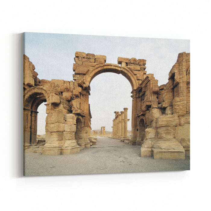 Palmyra, Syria, The Pearl Of The Ancient Architecture Which Queen Zenobia Canvas Wall Art Print