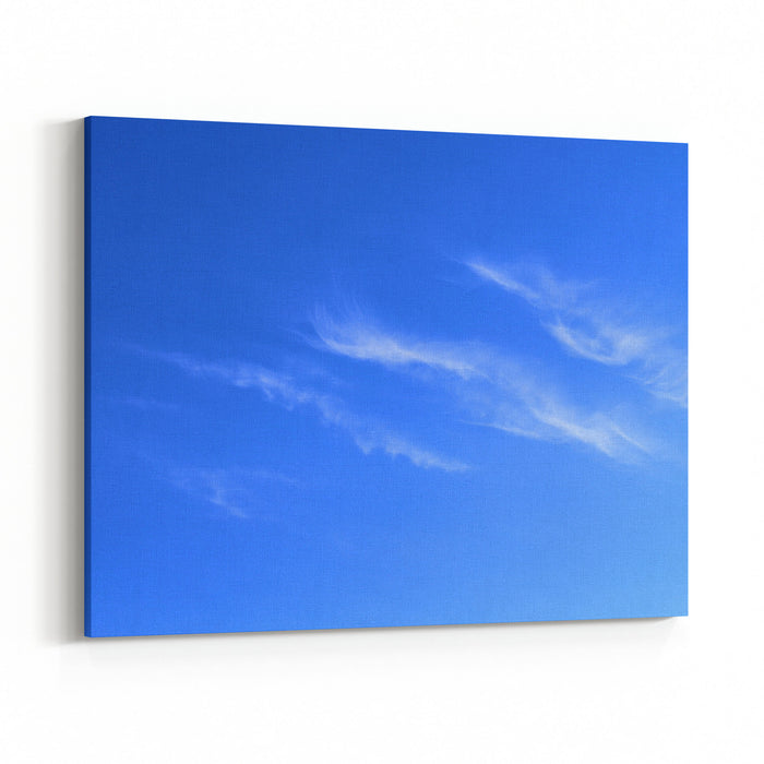 Beautiful Blue Sky And White Cirrus Clouds Background Landscape ...