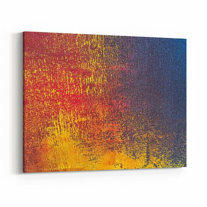 Abstract Art Background Orange And Navy Blue Colors Multicolor Oil Painting On Canvas Fragment Of Artwork Texture Backdrop Canvas Wall Art Print