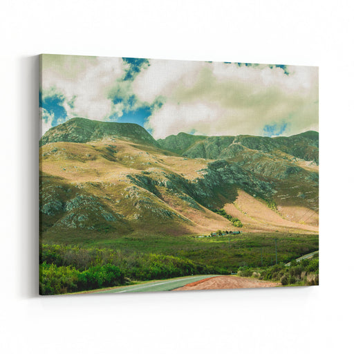 Landscape Of Mountains In Hermanus On A Cloudy Day, South Africa Canvas Wall Art Print
