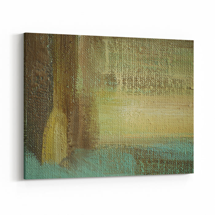 Abstract Painting By Oil On Canvas,  Illustration, Background Canvas Wall Art Print