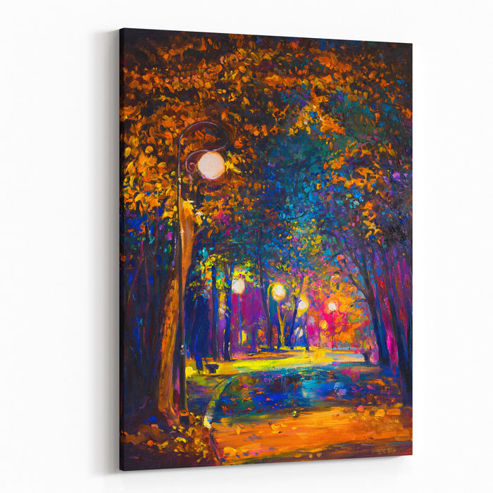 Original Oil Painting On Canvas Of Colorful Autumn Landscape Modern Impersionism Canvas Wall Art Print