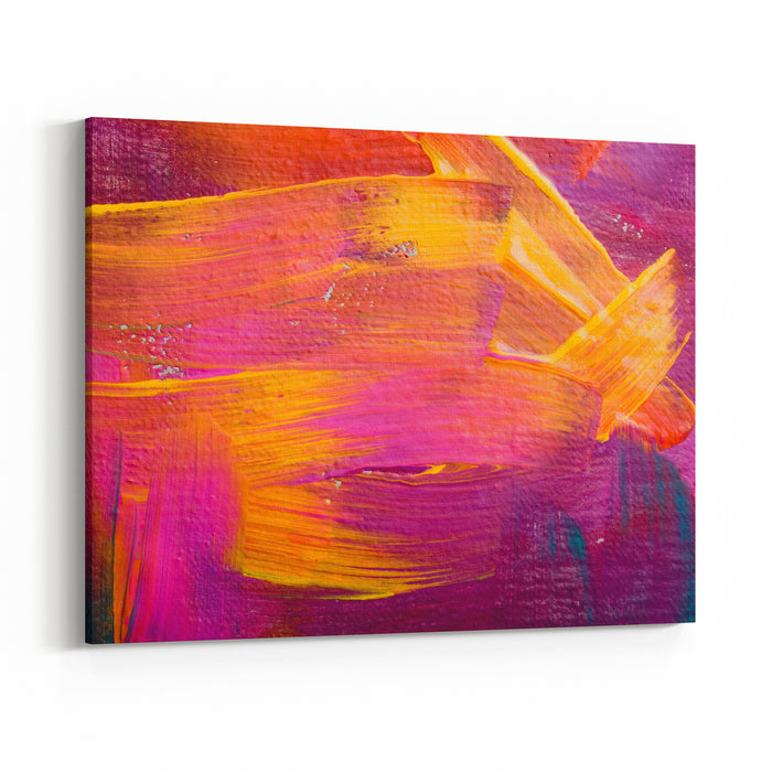 Abstract Art Backgrounds Handpainted Background SELF MADE Canvas Wall Art Print