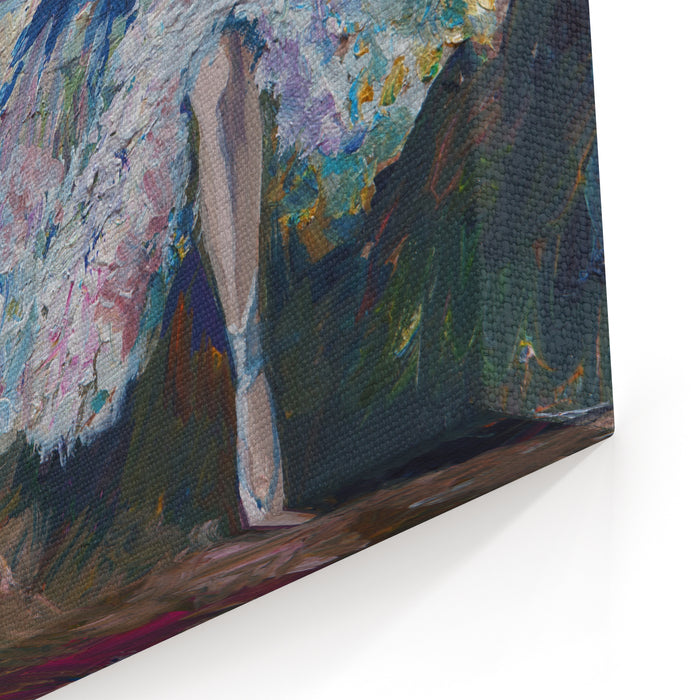 Ballerina Painting Acrylic And Full Spectrum On Canvas And Cardboard Artist Creative Painting Background Canvas Wall Art Print