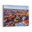 Aerial View Of Beautiful City Helsinki At Spring Blue Sky And Clouds And Colorful Buildings Helsinki, Finland Canvas Wall Art Print