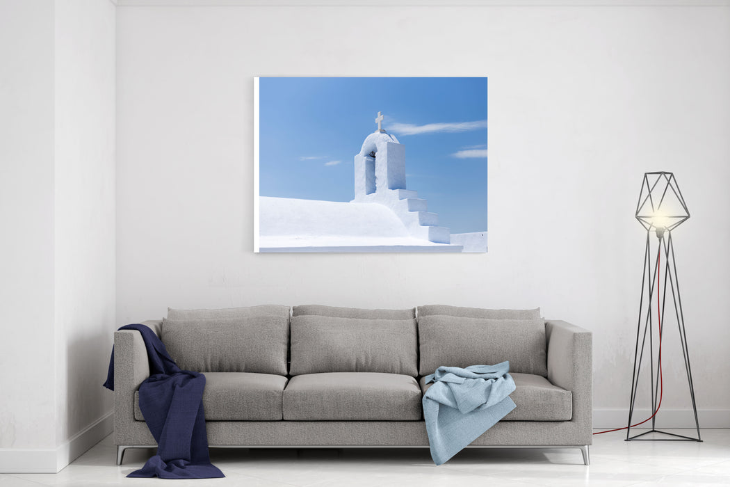 AmorgosGreece The Roof Of A Small Christian Church In The Island Of Amorgos,Greece Canvas Wall Art Print