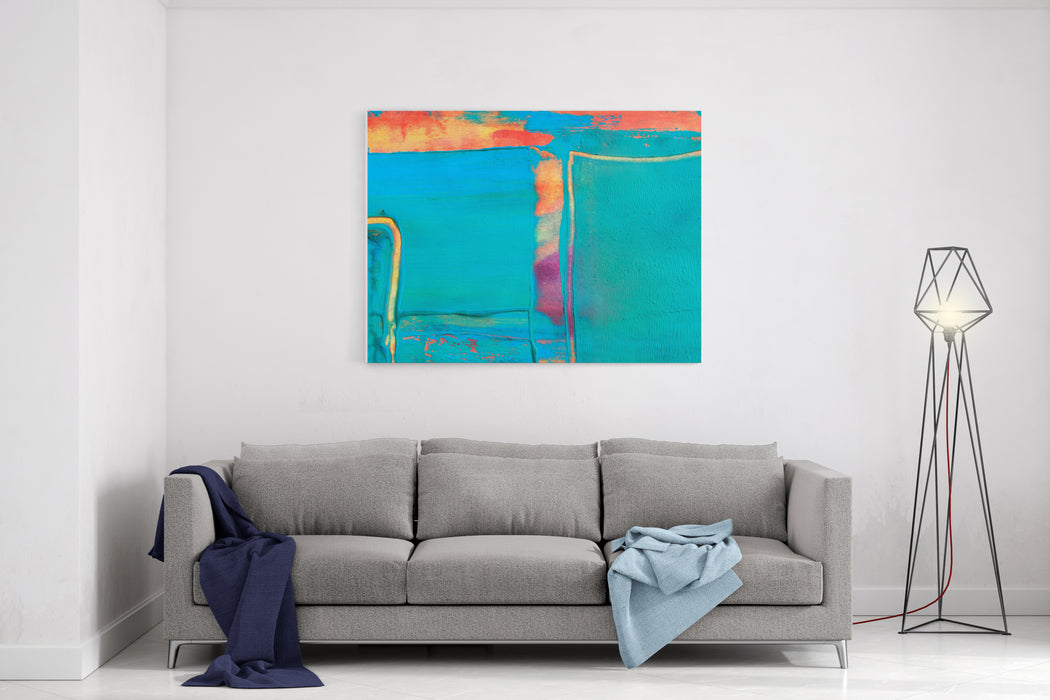 Abstract Painting, Detail Canvas Wall Art Print