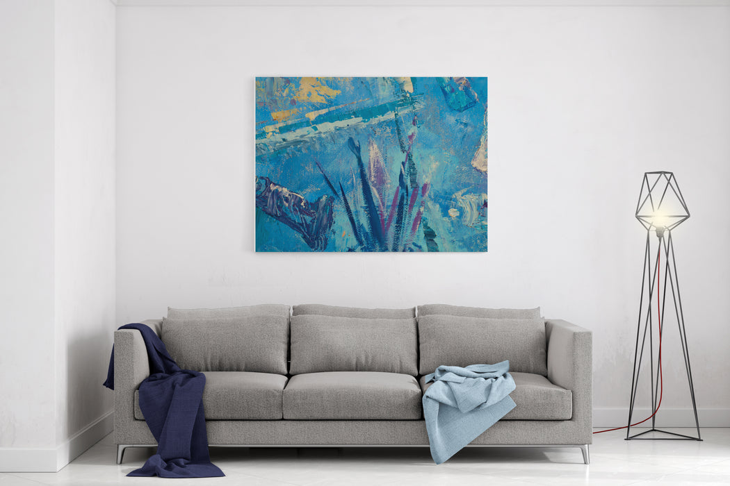 Background, Drawing, Painting, Painted With Oil Paints Sketch Of The Painting Wings Of Life Canvas Wall Art Print