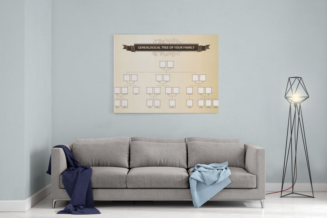 Genealogical Tree Of Your Family Vector Illustration Canvas Wall Art Print