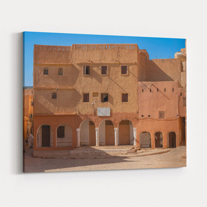 Traditional Architecture In Town Ghardaia, Algeria Canvas Wall Art Print