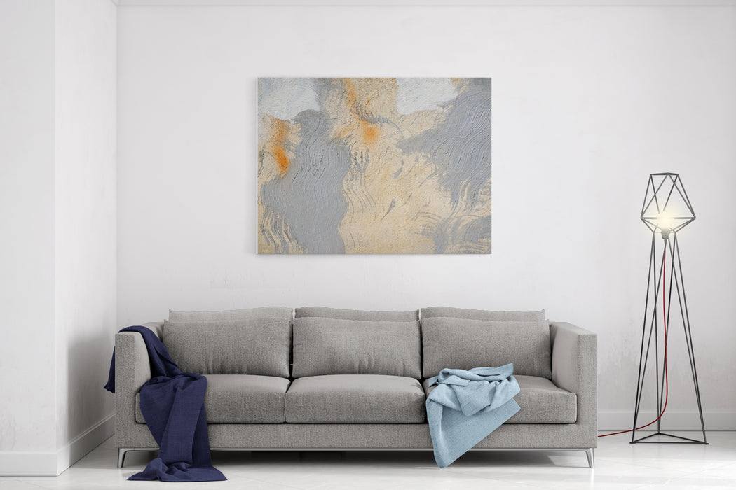 Abstract Painting Wall Yellow And Grayabstract Texture Background Forwallpaper Design And Decoration Canvas Wall Art Print