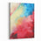 Oil Paint Abstract Figure Sketch Of Bright Colors On The Canvas Of A Textured Background Canvas Wall Art Print