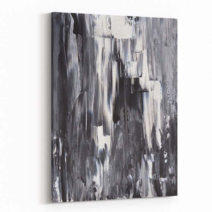 Black And White Abstract Art Painting Canvas Wall Art Print