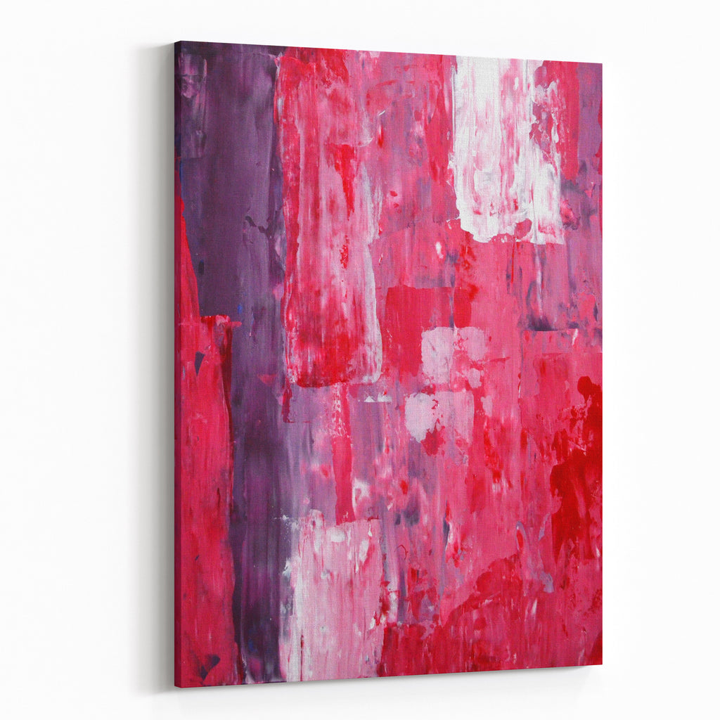 Pink and purple abstract art painting canvas wall art print