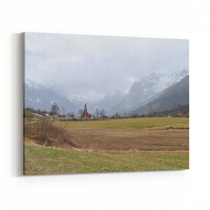 Scenic Landscapes In Norway Canvas Wall Art Print