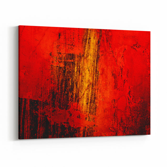 Abstract Background Made Of Colored Shapes And Lines Canvas Wall Art Print