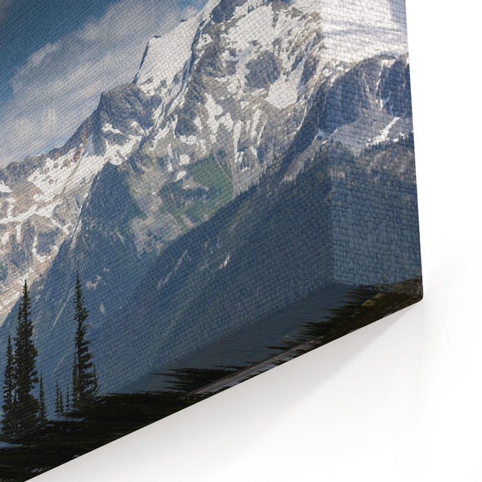 Scenic Mountain Landscape In Whistler BC, Vancouver, Canada Canvas Wall Art Print