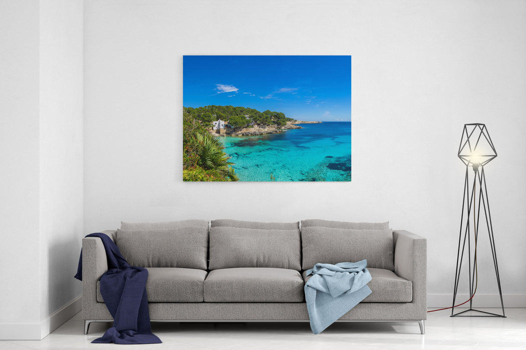Mallorca, Summer, Sun And Scenic Holiday Nature Landscape At Cala Ratjada Coast XXL Panorama Canvas Wall Art Print
