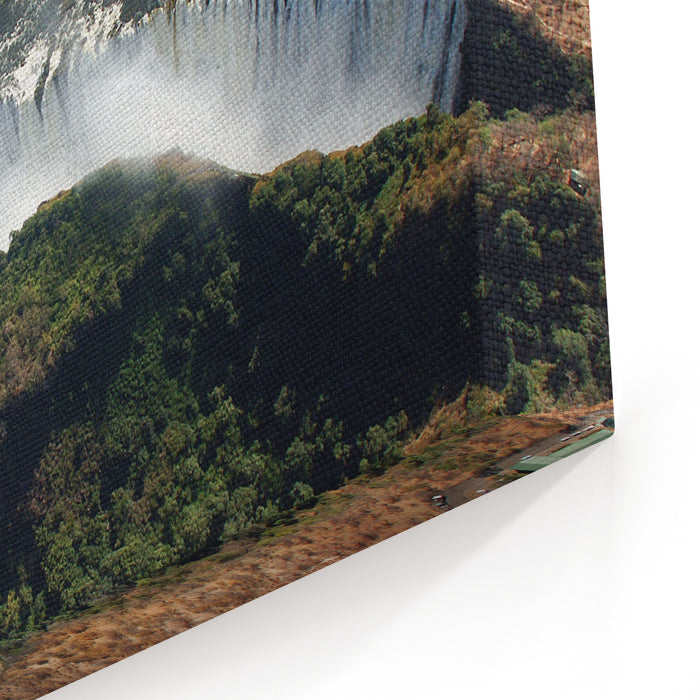Birds Eye View Of The Victoria Falls Canvas Wall Art Print