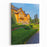A Huge Wooden Mansion With A Landscape Design Under A Blue Cloudless Sky Konka, The Residence Of Yanukovych Museum Of Corruption Of Ukraine Mezhyhirya, Kiev Canvas Wall Art Print
