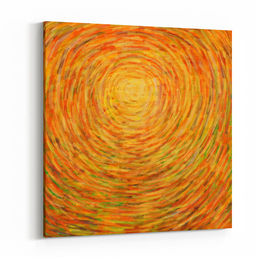 Stroke Painting Sun For Summer Background Canvas Wall Art Print