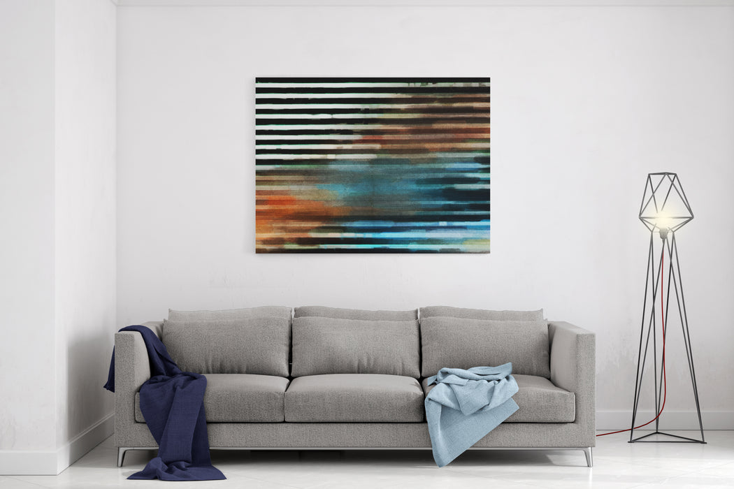 Digital Structure Of Painting Abstract Background With Oil Paint In Scratches Canvas Wall Art Print