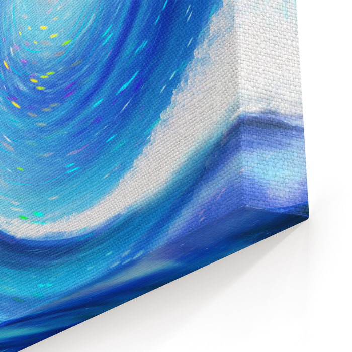 Dramatic Wave In The Space ,abstract Painting Canvas Wall Art Print