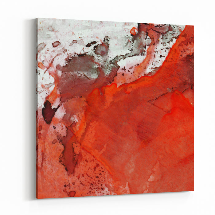 Abstract Watercolor Painting Design Element Canvas Wall Art Print