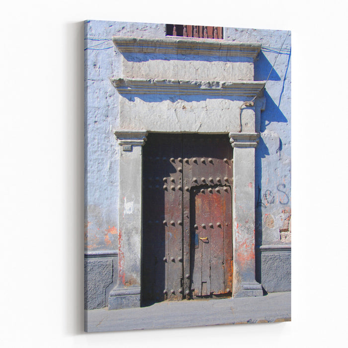 Architecture Detail In Town Of Arequipa Peru Canvas Wall Art Print